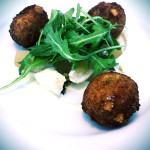 Crispy blue cheese arancini